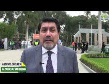 |29.05.2019| Alcalde de San Isidro explica a vecino plan de prevención en caso de sismo